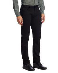 Armani - Black Aj Slim-fit Twill Denim Pants for Men - Lyst