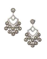 John Hardy - Metallic Dot Sterling Silver Chandelier Earrings - Lyst