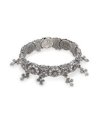 Konstantino - Metallic Penelope Cross Charm Bracelet - Lyst