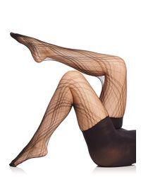 Spanx Black Plaid Lace Tights
