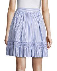 Alexis Blue Laysa Striped Cotton Wrap Skirt