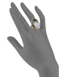 Marco Bicego Metallic Lunaria Black Mother-of-pearl & 18k Yellow Gold Ring