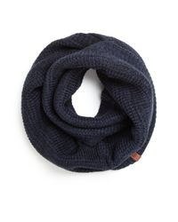 Bickley + Mitchell - Blue Thermal Infinity Scarf for Men - Lyst