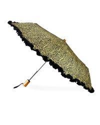 Saks Fifth Avenue - Green Ruffled Automatic Umbrella - Lyst