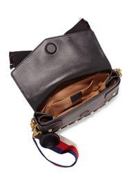 Gucci - Black Broadway Studded Leather Clutch - Lyst