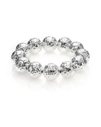 Nest | Metallic Hammered Beaded Stretch Bracelet | Lyst