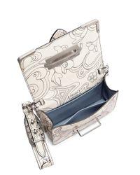 Prada White Leather Rabbit-print Bag