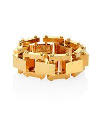 Lele Sadoughi - Metallic Golden Cove Bracelet - Lyst
