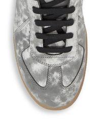 Maison Margiela Gray Replica Suede Low-top Sneakers for men
