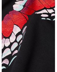 Maje Woman Embroidered Jersey Sweatshirt Black