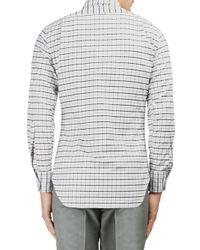 Thom Browne Multicolor Plaid Cotton Button-down Shirt for men