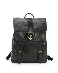 COACH - Black Classic Leather Backpack - Lyst