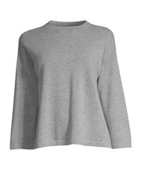 Eileen Fisher Gray Cashmere Ballet Neck Top