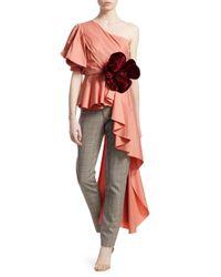 Johanna Ortiz - Multicolor Flower One-shoulder Top - Lyst