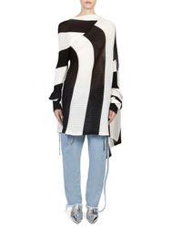 Marques'Almeida - Black Draped Wool Pullover - Lyst