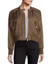 Free People - Brown Midnight Bomber Jacket - Lyst