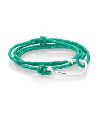 Miansai - Green Hook Rope Wrap Bracelet/silvertone for Men - Lyst