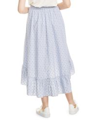Maje - Blue Johno Dot Stripe Ruffle Skirt - Lyst
