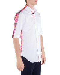 Thom Browne Pink Bicolor Med Cotton Button-down Shirt for men