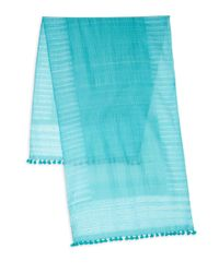 Eileen Fisher - Blue Organic Cotton-blend Scarf - Lyst