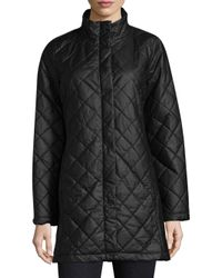 Eileen Fisher - Black Quilted Jacket - Lyst