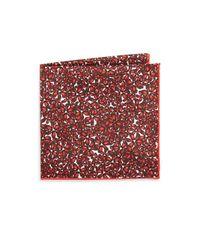 Hook + Albert - Red Islets Silk Pocket Square - Lyst