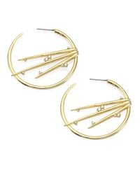 Alexis Bittar - Metallic Elements Satelite Crystal Spiked Hoop Earrings/1.75 - Lyst