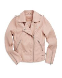 Blank NYC Girl's Moto Jacket - Blushing Pink - Size Small (7)