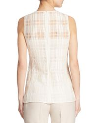 Akris - Natural Sleeveless Square Lace Blouse - Lyst