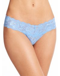 Cosabella | Blue Never Say Never Cutie Low-rise Thong | Lyst