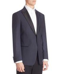 Armani Blue Silk & Wool Dinner Jacket for men