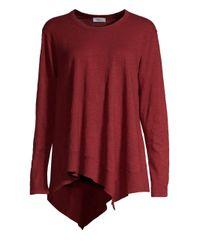 Wilt - Red Asymmetric Ribbed Long-sleeve Shirt - Lyst