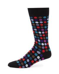 Paul Smith - Black Multi Dot Socks for Men - Lyst