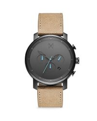 MVMT Multicolor Chrono Gunmetal Stainless Steel & Leather-strap Chronograph Watch for men