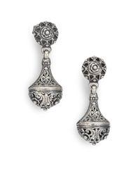 Konstantino Metallic Women's Classics Sterling Silver Drop Earrings - Silver