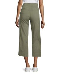 Sundry - Green Embroidered Button-front Pants - Lyst