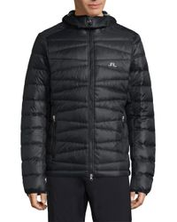J.Lindeberg Synthetic Radiator Quilted Down Hooded Jacket ...