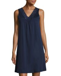 Hanro | Blue Moments Tank Gown | Lyst