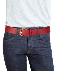 Ferragamo - Red Gancio Buckle Belt With Extended Strap for Men - Lyst