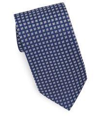 Eton of Sweden Blue Navy Neat Medallion Tie for men