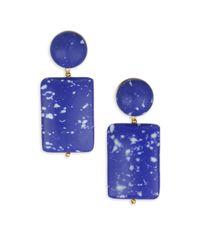 Lele Sadoughi - Blue Mosaic Garden Keepsake Stone Post Earrings - Lyst