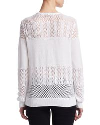 Saks Fifth Avenue - White Collection Mixed Stitch Pullover - Lyst