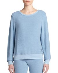 Wildfox - Blue Boatneck Sweatshirt - Lyst