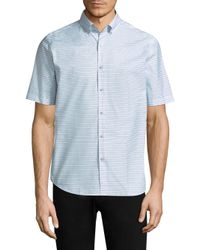 Vilebrequin Blue Dotted Cotton Button-down Shirt for men
