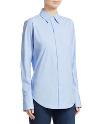 Theory Blue Essential Button-down Shirt