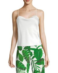 b6074af551d77 Lyst - Alice + Olivia Women s Base Harmon Tank Top - White in White