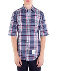 Thom Browne Blue Classic Cotton Button-down Shirt for men