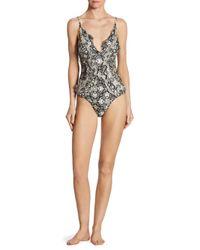 Zimmermann - Black One-piece Divinity Ruffled Swimsuit - Lyst
