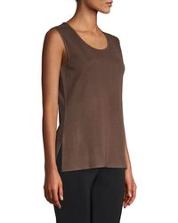 Misook Brown Classic Knit Tank Top