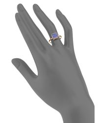 Ginette NY - Purple Wise Ever Lapis Lazuli & 18k Rose Gold Square Ring - Lyst